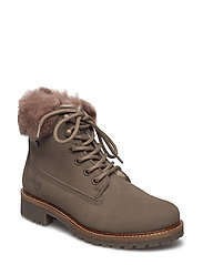 Woms Boots - TAUPE/FUR