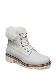 Woms Boots - WHITE/FUR