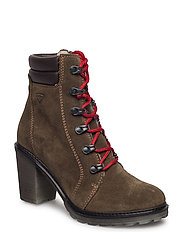 Woms Boots - OLIVE/MOCCA
