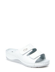 Woms Slides - WHITE LEATHER