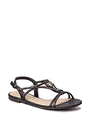 Woms Sandals - BLACK METALLIC