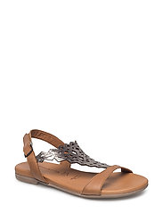 Woms Sandals - NUT/PEWTER