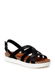 Woms Sandals - BLACK/BLK MET.