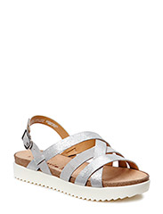 Woms Sandals - LT.GREY/SILVER