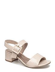 Woms Sandals - CREAM PATENT