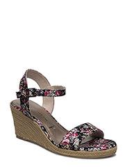 Woms Sandals - Livia - BLACK FLOWER