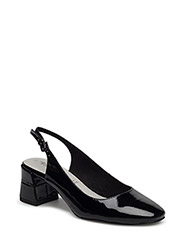 Woms Sling Back - Pea - BLACK PATENT