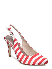 Woms Sling Back - CHILI STRIPES