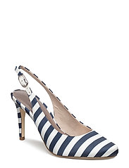 Woms Sling Back - NAVY STRIPES