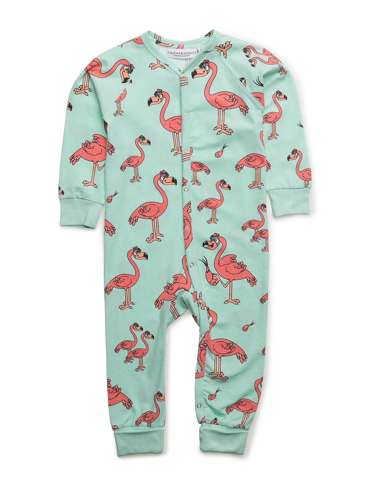 Pj Flamingon Multi-Animal Mint One-Piece Tao & friends Nat & Undertøj til Børn i