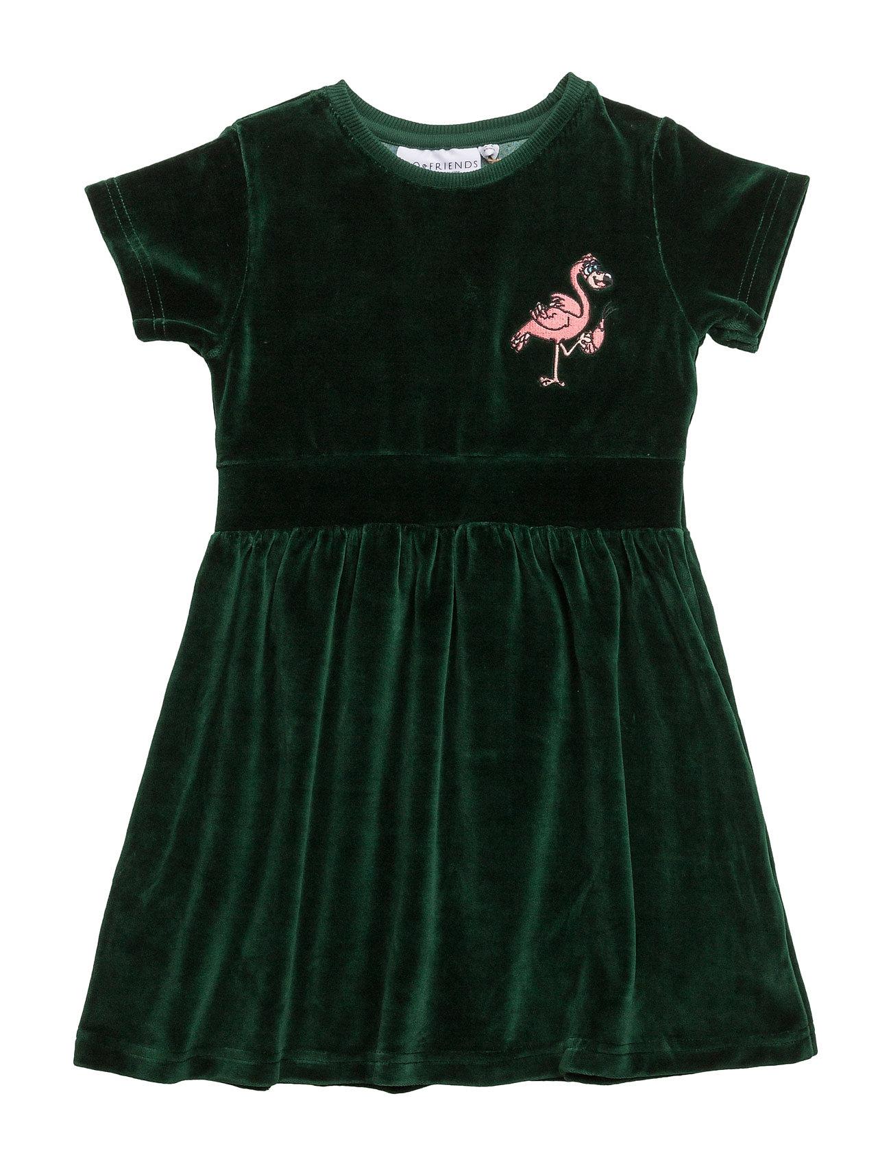 Dress flamingon mini embroidered velvet green fra tao & friends fra boozt.com dk