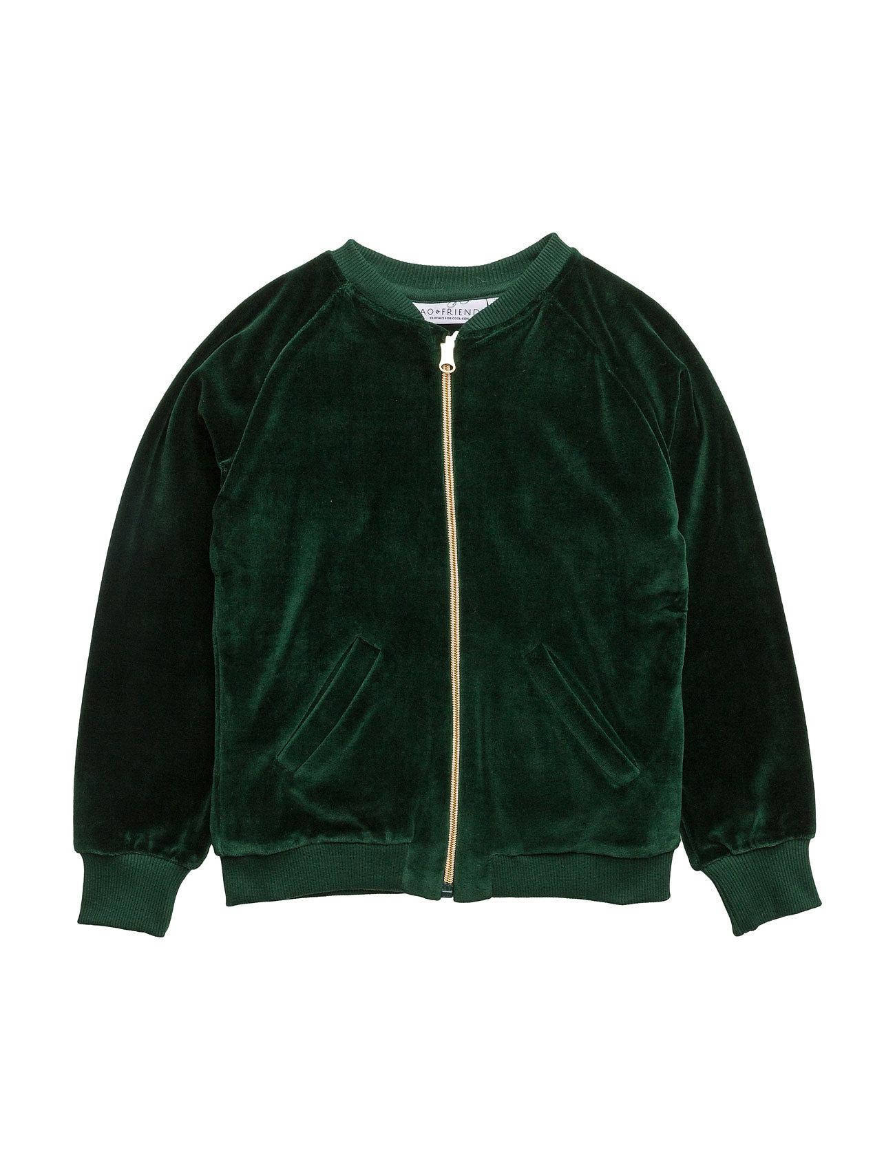 Bomber jacket gorillan velvet green fra tao & friends på boozt.com dk
