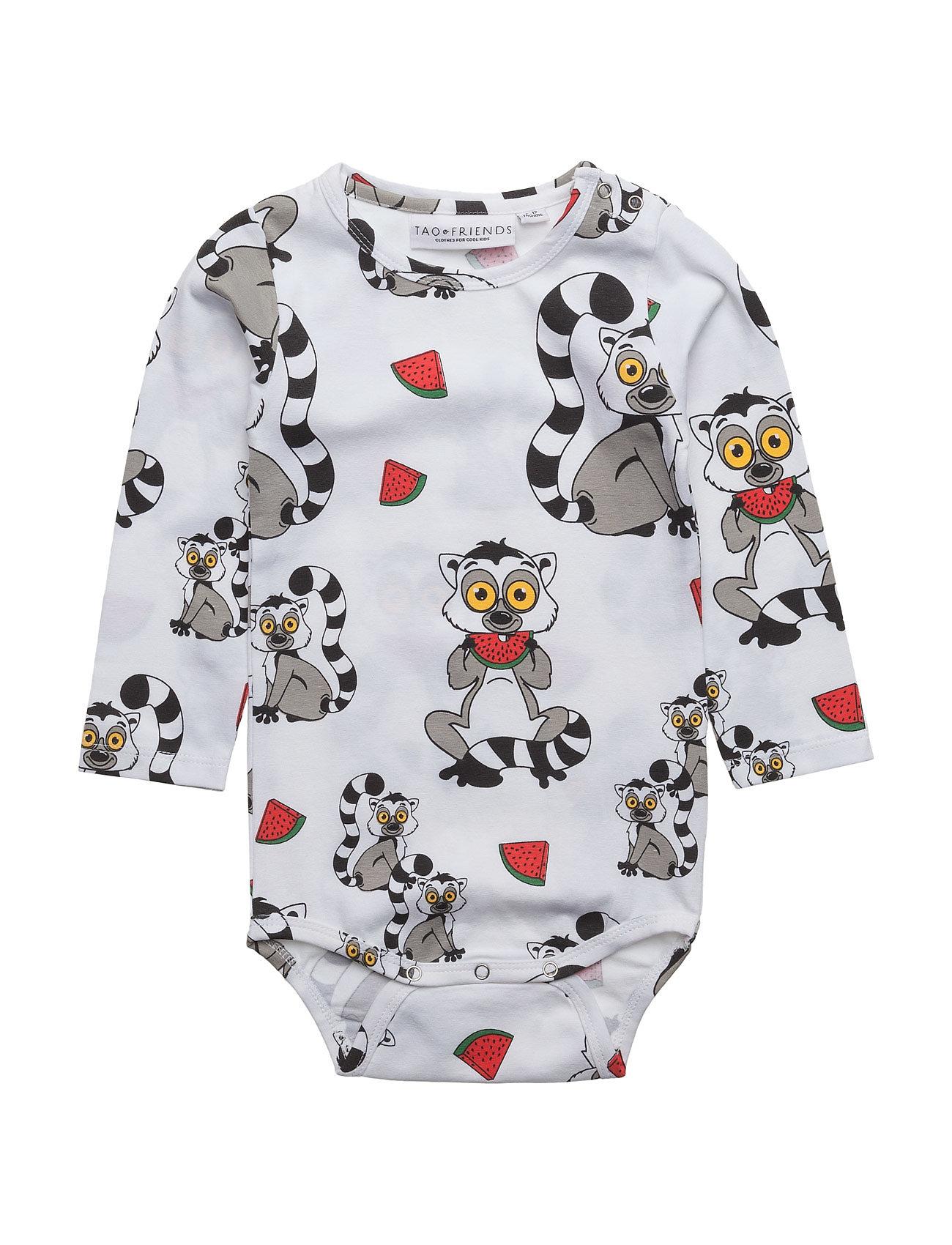 tao & friends Baby body lemuren multi-animal white på boozt.com dk