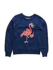 Sweatshirt Flamingon single-animal marine - BLUE MARINE