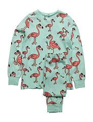 PJ Flamingon multi-animal mint two-piece - MINT GREEN