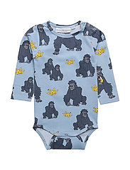 Baby Body Gorillan multi-animal blue - BLUE