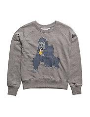 Sweatshirt Gorillan single-animal grey - GREY