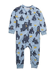PJ Gorillan multi-animal blue one-piece - BLUE