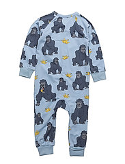 PJ Gorillan multi-animal blue one-piece