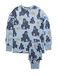 PJ Gorillan multi-animal blue two-piece - BLUE