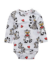 Baby Body Lemuren multi-animal white - WHITE