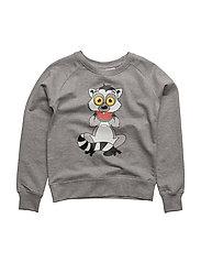 Sweatshirt Lemuren single-animal grey - GREY