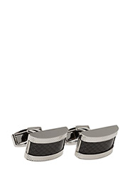 Tateossian Carbon Fibre Cufflinks - BLACK
