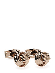 Tateossian Knot Cufflinks - ROSE GOLD COLOUR