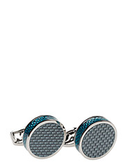 Tateossian Carbon Fibre Cufflinks - BLUE