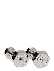 Tateossian Nut and Bolt Cufflinks - SILVER COLOUR