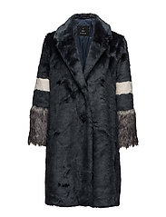 Patchwork Fur - Notori PX - MEDIUM BLUE