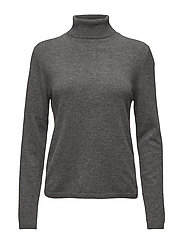 Cashmere Knit - Neri Rolled Neck - MID GREY