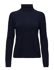 Cashmere Knit - Neri Rolled Neck - NAVY