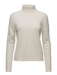 Cashmere Knit - Neri Rolled Neck - WINTER WHITE