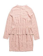 GLORY L_S DRESS - ADOBE ROSE
