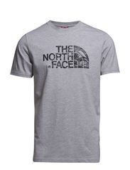 M S/S WOODCUT DOME T - HEATHER GREY
