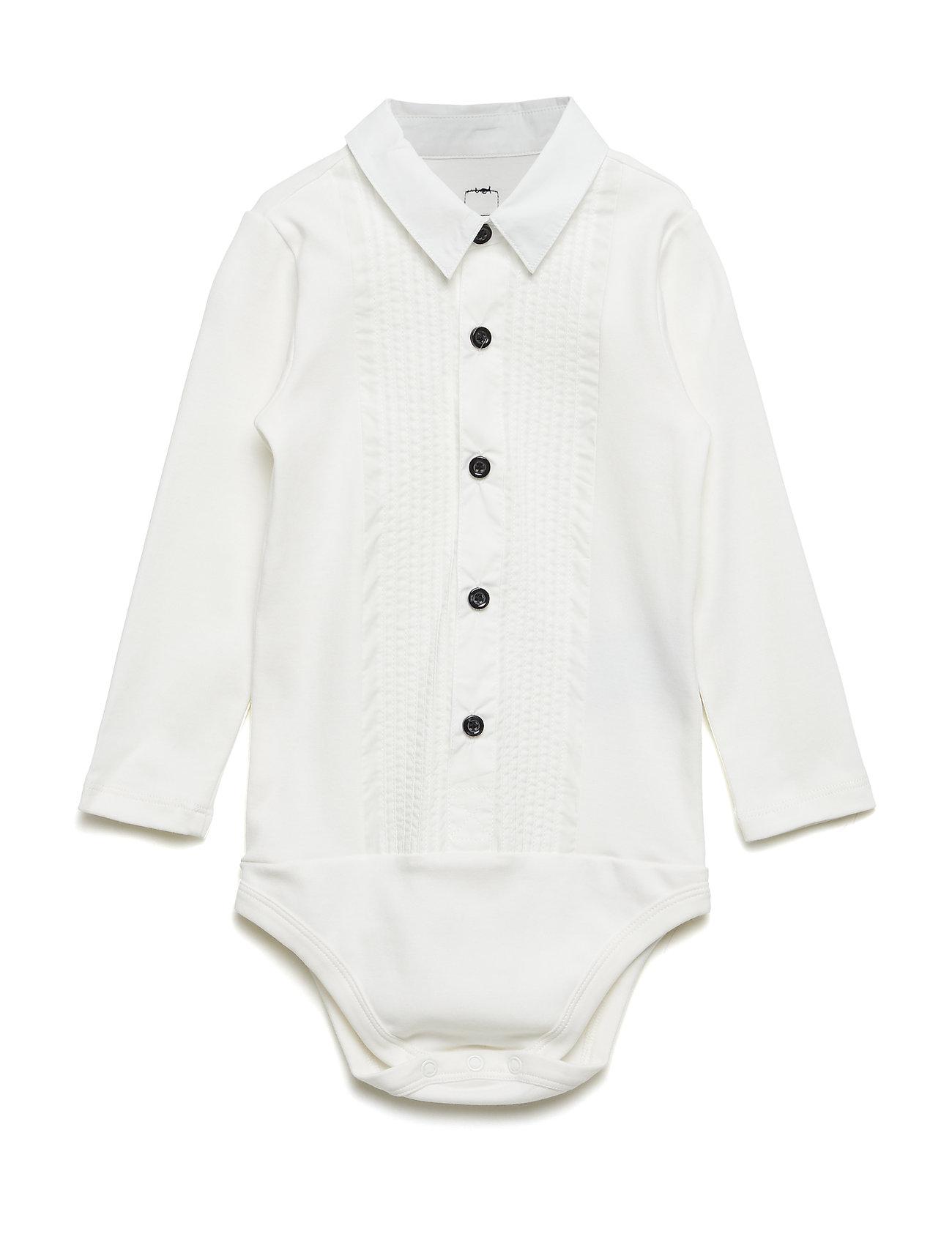 The Tiny Body/Tuxedo The Tiny Universe Langærmede bodies til Børn i Off-White