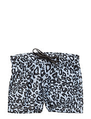 Swim Trunks Snow Leopard boys - BLACK & WHITE