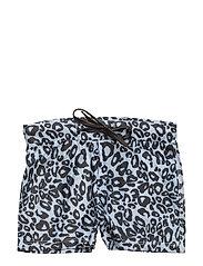 Swim Trunks Snow Leopard boys - BLACK & WHITE