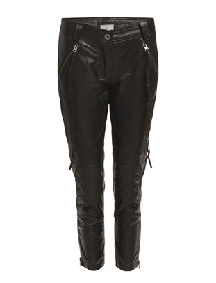 Live Leather Pants - Black