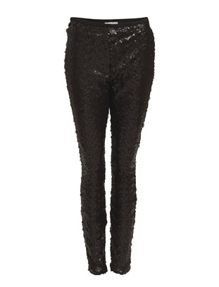 Lisabell Sequins Leggins - Black