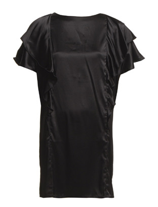 Melancholia Silk Dress - Black