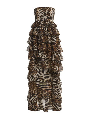 Minsa Layer Dress - Leopard