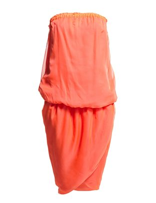 The Wardrobe Primrose Dress - Neon Coral