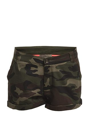 The Wardrobe Oliva Camou Shorts