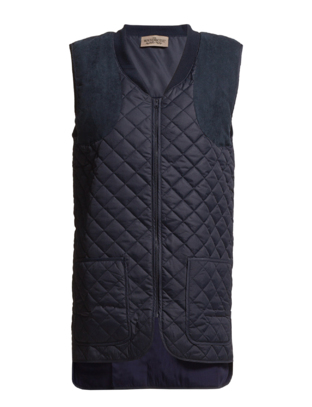 The Wardrobe ROWL QUILT VEST - Navy