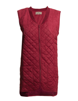 The Wardrobe ROWL QUILT VEST - Wine Red