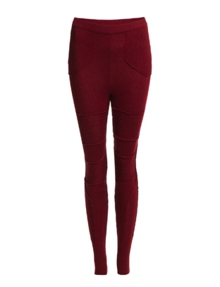 The Wardrobe Vega Knit Pants - Wine Red