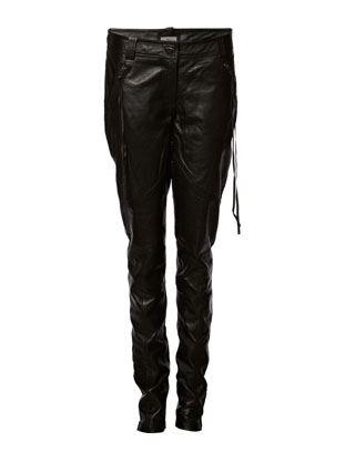 Stellar Leather Pants - Black