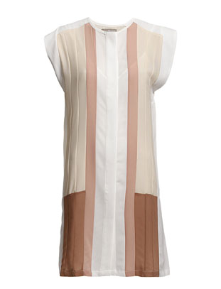 Narda Block Dress - Nude